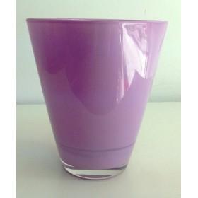 Кашпа цветно стъкло - лилаво