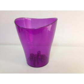 Пластмасова кашпа - лилава