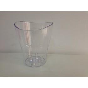 Пластмасова кашпа - прозрачна