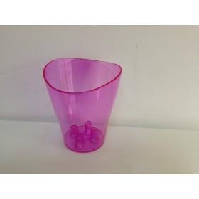 Пластмасова кашпа - розова
