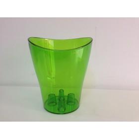 Пластмасова кашпа - зелена