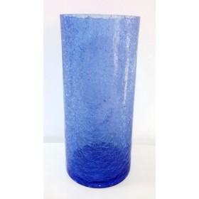 Ваза начупено стъкло - синьо